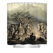 Caravan Of Armenian Merchants Shower Curtain