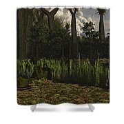 Carboniferous Forest Of The Eastern Shower Curtain
