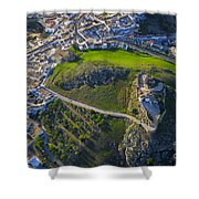 Carcabuey Castle From The Air Shower Curtain