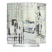 Carcrash Shower Curtain