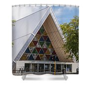 Cardboard Cathedral Shower Curtain