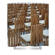 Cardboard Cathedral Chairs Shower Curtain