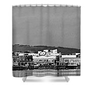 Cardiff Bay Panorama 2 Mono Shower Curtain