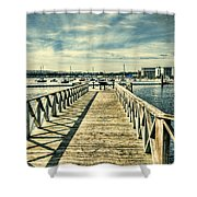 Cardiff Bay Wetlands 2 Shower Curtain