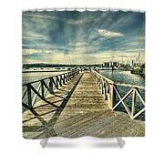 Cardiff Bay Wetlands Shower Curtain