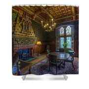 Cardiff Castle Apartment Dining Room Shower Curtain