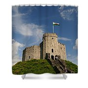 Cardiff Castle Keep Shower Curtain