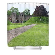 Cardiff Castle Wall 8383 Shower Curtain