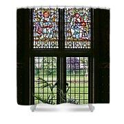 Cardiff Castle Window 8355 Shower Curtain