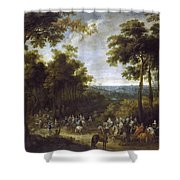 Cardinal-infante On The Hunt Shower Curtain