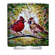 Cardinals Chat Shower Curtain
