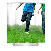 Carefree Friends Shower Curtain