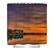 Carew Castle Sunset 1 Shower Curtain