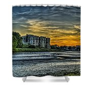 Carew Castle Sunset 3 Shower Curtain