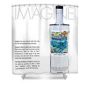 Carey Chen Big Chill Vodka By Jimmy Johnson Shower Curtain