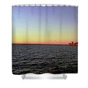 Cargo Ship @ Chesapeake Bay Bridge Tunnel Shower Curtain
