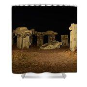 Carhenge At Night Shower Curtain