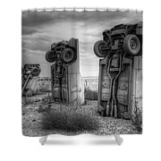 Carhenge Automobile Art 3 Shower Curtain
