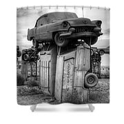 Carhenge Automobile Art 4 Shower Curtain