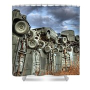 Carhenge Automobile Art Shower Curtain