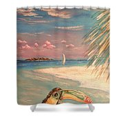 Caribbean Afternoon Shower Curtain by The Beach  Dreamer