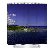 Caribbean Breeze Eight Shower Curtain