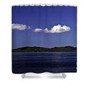 Caribbean Breeze Eleven Shower Curtain
