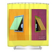 Caribbean Corner 3 Shower Curtain