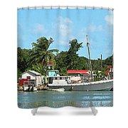 Caribbean - Docked Boats At Antigua Shower Curtain