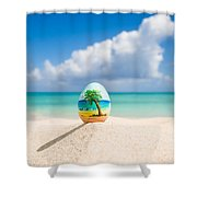 Caribbean Easter Egg Shower Curtain
