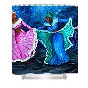 Caribbean Folk Dancers Shower Curtain