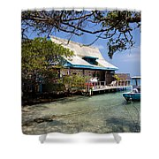 Caribbean House And Boat Shower Curtain
