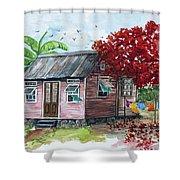 Caribbean House Shower Curtain