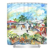 Caribbean Market Shower Curtain