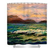 Islands And Wave Shower Curtain