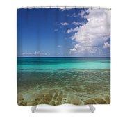 Caribbean Ocean Panorama Shower Curtain