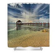 Caribbean Ocean Pier Shower Curtain