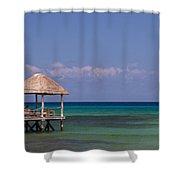 Caribbean Pier Shower Curtain