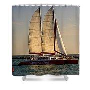 Caribbean Spirit Sails Miami Shower Curtain