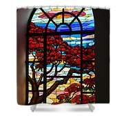 Caribbean Stained Glass  Shower Curtain
