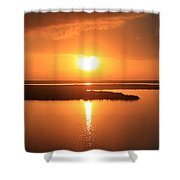 Caribbean Sunset Shower Curtain