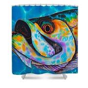 Caribbean Tarpon Fish Shower Curtain