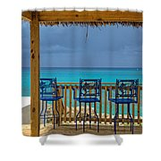 Caribbean View-island Grill Grand Cayman Shower Curtain