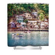 Caribbean Village Shower Curtain
