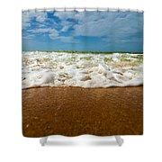 Caribbean Waves Shower Curtain