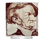 Caricature Of Richard Wagner Shower Curtain by Anonymous