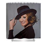 Carice Van Houten Painting Shower Curtain