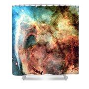 Carina Nebula - Deep Space Shower Curtain