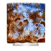 Carina Nebula-dust Pillars Shower Curtain