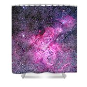 Carina Nebula Panorama Shower Curtain